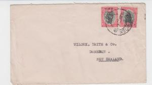 SOUTH WEST AFRICA TO NEW ZEALAND 1929 COVER 2d RATED (SEE BELOW)