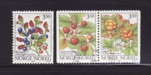 Norway 1087-1089 U Plants, Berries (B)