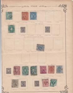 Italy Stamps on Album Page ref R 18952