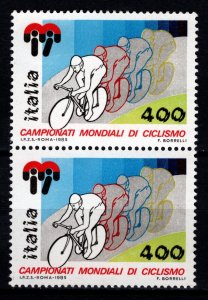 Italy 1985 World Cycling Championships Pair [Mint]