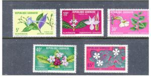 GABON 284-289 Flowers complete set