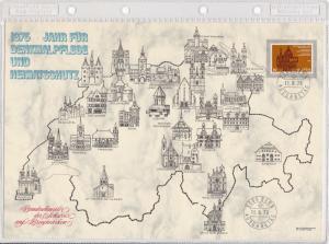 Switzerland Large Prestige 1975 Year for Historic Preservation Stamps Card 26291