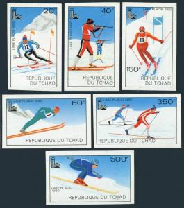 Chad 381-386 imperf,MNH.Michel 877B-882B.Olympics Lake Placid-1980:Slalom,Skiing