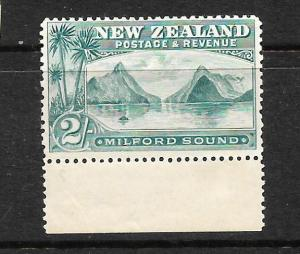 NEW ZEALAND 1898  2/-  PICTORIAL  MLH  LONDON PRINT   SG 258    CP E20a2