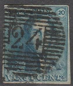 Belgium #2  F-VF Used CV $57.50 (C6423)