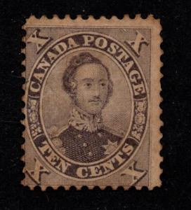 $Canada Sc#17a used, fine+, violet w/part gum, Cv. $1050