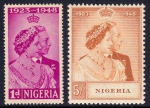 Nigeria - Scott #73-74 - MH - Gum toning - SCV $13.85