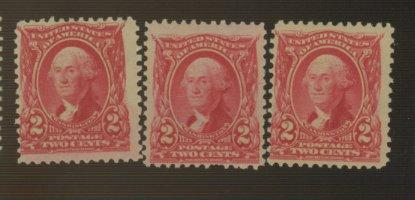 301 (3) MINT Fine OG NH Cat$111.50