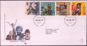 Great Britain stamp Millennium (IV) set FDC Cover 1999 Mi 1797-1800 WS156863