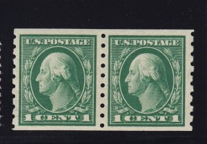 412 VF-XF Pair original gum mint never hinged with great color ! see pic !