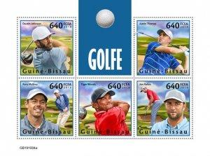 GUINEA BISSAU - 2019 - Golf - Perf 5v Sheet - M N H