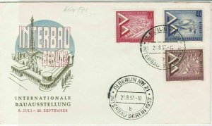 Berlin 1957 Berlin NW Cancels Building Construction Stamps Cover Ref 26101
