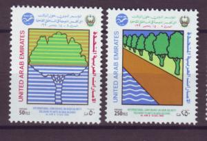 J20812 Jlstamps 1990 uae set mnh #342-3 trees