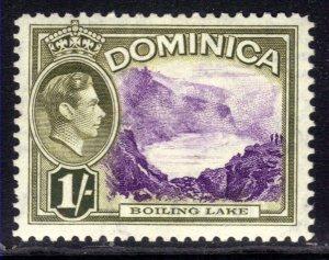 Dominica 1938 - 47 KGV1 1/-d Boiling Lake MM SG 106 ( B729 )