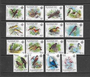 BIRDS - ZIL ELWANNYEN SESEL #50-65  MNH