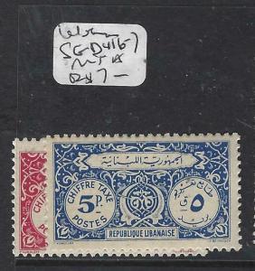 LEBANON (P1604B)  POSTAGE DUE  SG D416-7   MNH