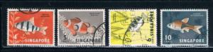Singapore  54-57 Used Tropical Fish (S0265)