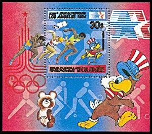 Guinea 845, MNH, Los Angeles Summer Olympics souvenir sheet