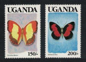 Uganda Butterflies 'UGANDA' in black 2v SG#754-755