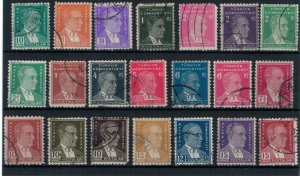 Turkey postally used collection of 21 stamps