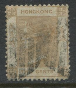 Hong Kong QV 1862 2 cents pale brown used