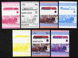 St Lucia 1983 Locomotives #1 (Leaders of the World) 35c C...