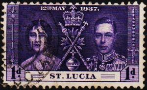 St.Lucia. 1937 1d S.G.125 Fine Used