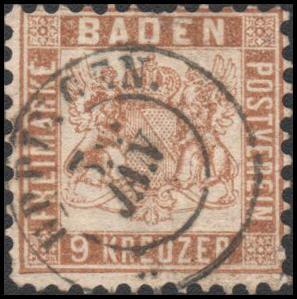 German States-Baden 23 used