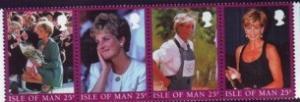 Isle of Man Sc 793 1998 Princess Diana stamp set  NH