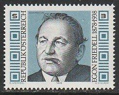 1978 Austria - Sc 1072 - MNH VF - 1 single - Egon Friedell, Writer & Historian