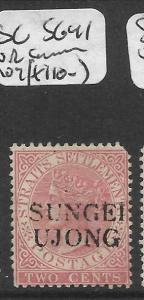 MALAYA SUNGEI UJONG (P0501B) QV 2C  SG 41 UR CORNER ROUND MOG