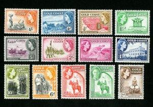 Gold Coast Stamps # 148-59 VF OG LH Catalog Value $68.60