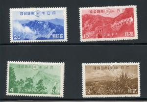 JAPAN 1941 PARK  SET SCOTT#315/18  MINT NEVER  HINGED--SCOTT VALUE $45.00