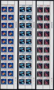 Palau 75-81 Plate Blocks of 20 MNH Fish, Coral, Shells, Turtle