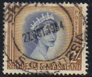 Rhodesia & Nyasaland #151 used, Queen Elizabeth II