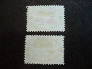Stamps - Cuba - Scott# C117-C118 - Used Set of 2 Air Mail Stamps