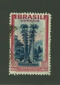 Brazil 1937 10,000r High Value, Scott 449 used, Value = $57.50