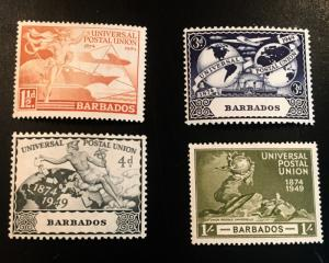 Barbados Scott 212-215 UPU Issue-Mint
