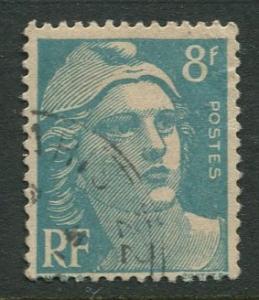 France - Scott 599 - General Definitive Issue -1948 - Used - Single 8fr Stamp