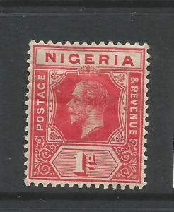 NIGERIA  1914-29   1d  KGV   MH     SG 2
