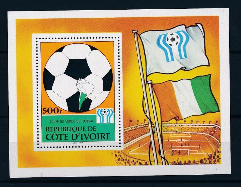 [43645] Ivory coast 1978 Sports World Cup Soccer Football Argentina MNH Sheet