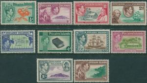 Pitcairn Islands 1940 SG1-8 Bounty set MLH