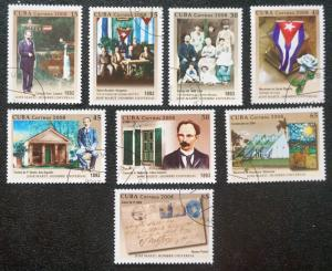 CUBA Sc# 4800-4807   JOSÉ MARTI revoloutionary SET of 8   2008 used / cancelled