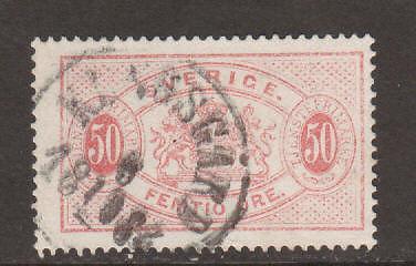 Sweden Sc O23 used 1891 50ö pale rose Official