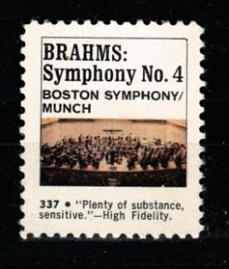 Brahms Symphony no:4 music vignette MNH**