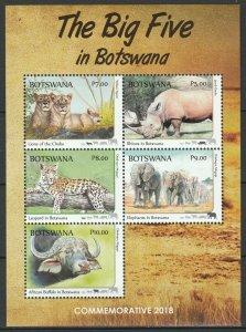 Botswana 2018 Fauna, Animals MNH Block
