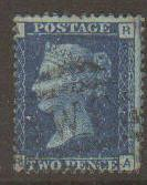 Great Britain #30 Plate #14 Used