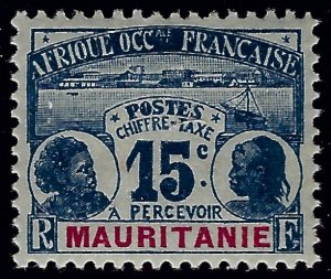 Mauritania Sc J3 Mint VF SCV$9...Colonies are in demand!