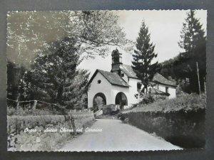 4962 Cartolina Postcard Ovaro Chiesa del Carmine usata