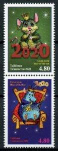 Tajikistan Year of Rat Stamps 2020 MNH Chinese Lunar New Year 2v Set